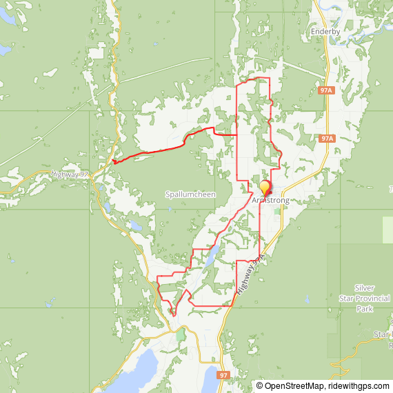 NEW 73km route