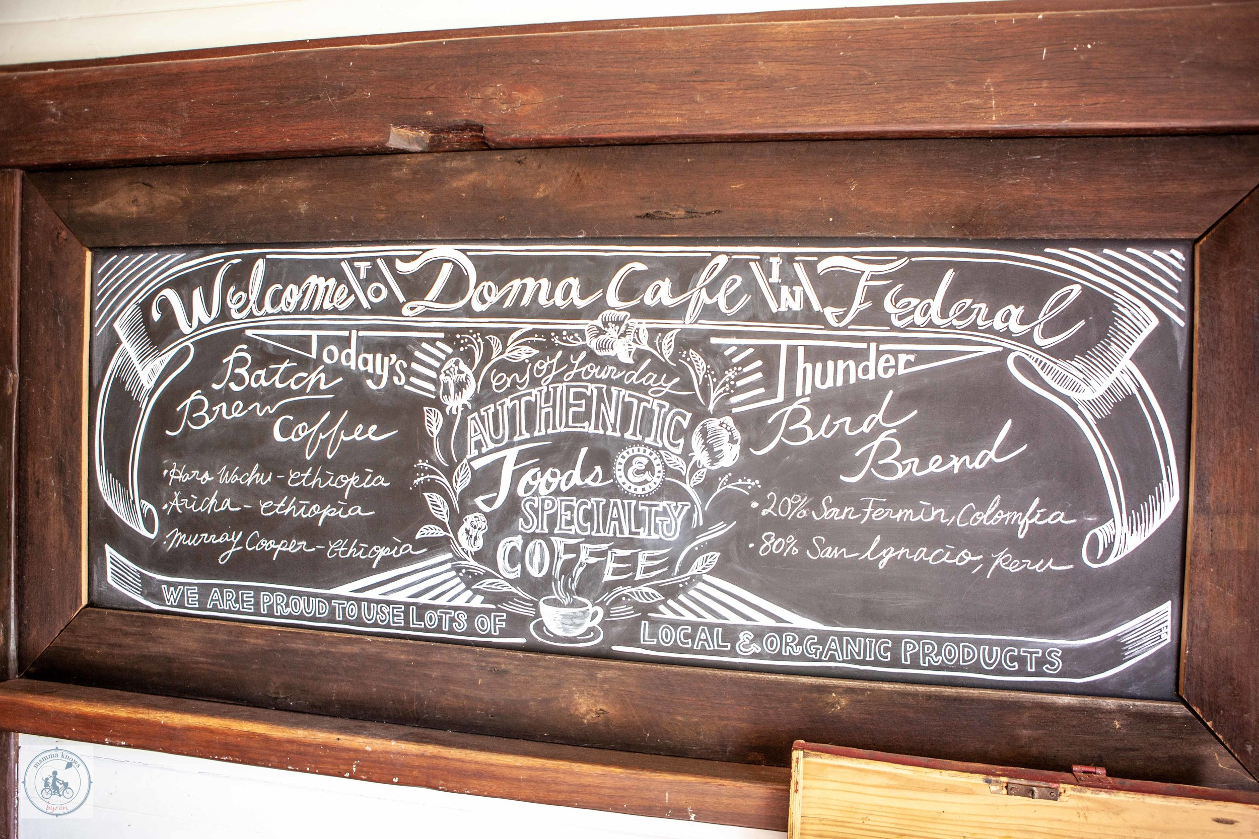 Doma Cafe - Mamma Knows Byron