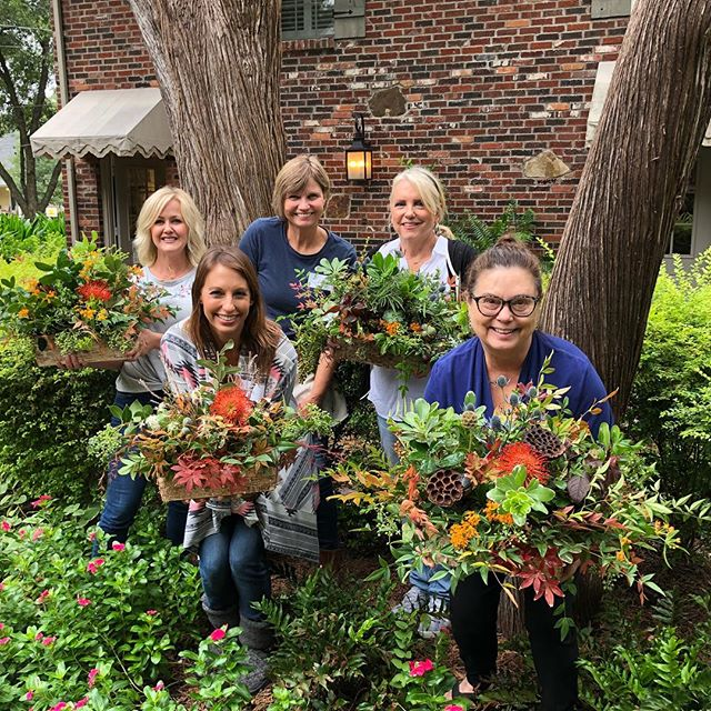 Great workshop this morning with these amazing students!  #foragedflorals #fallcolors #mckinneyflorist #floralworkshops