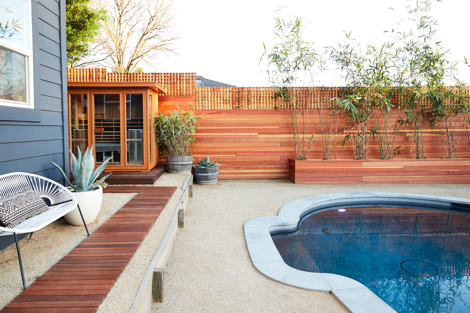 Backyard Pool & Sauna