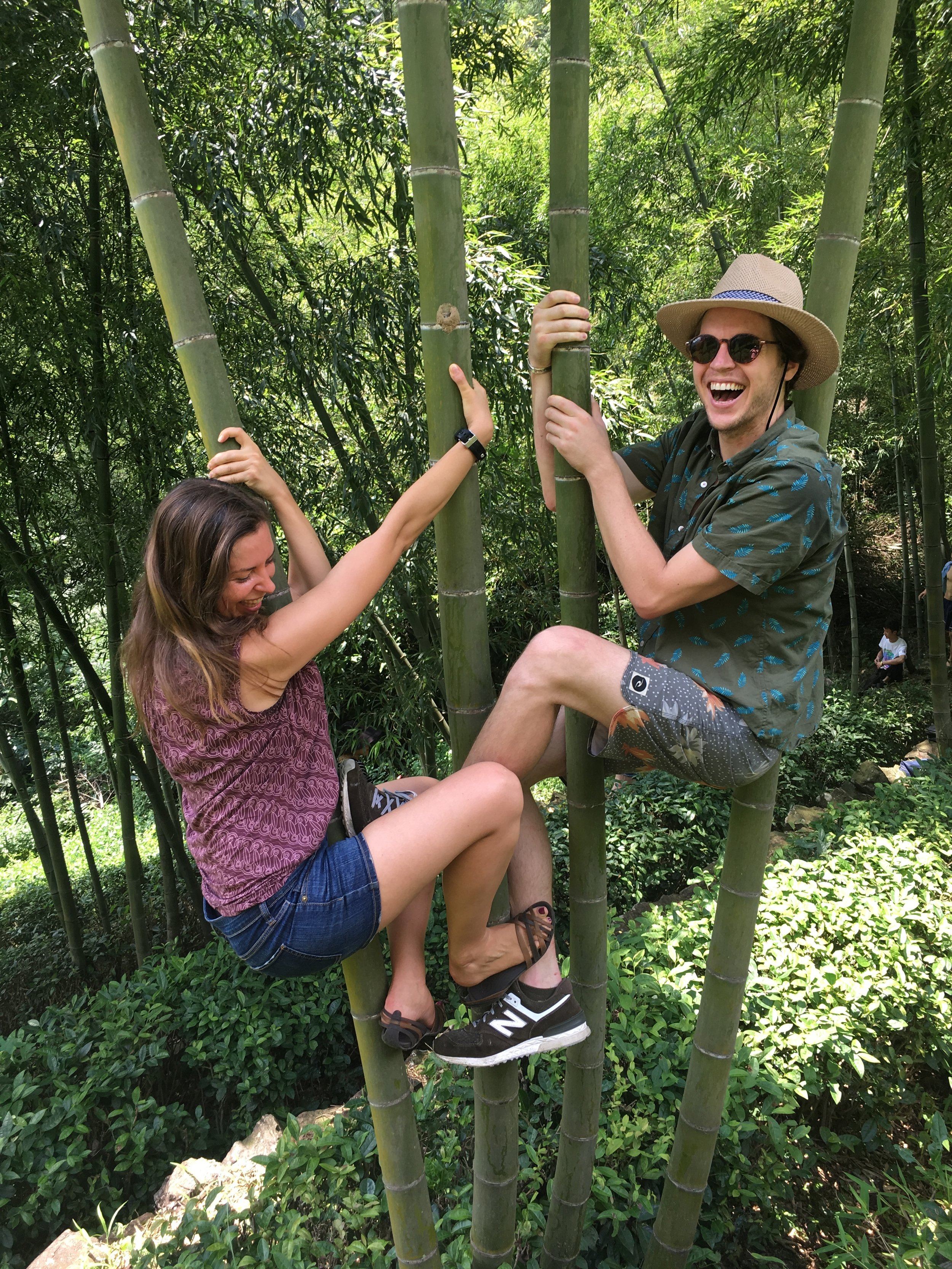 Hanging out at the bamboo forest ;-)