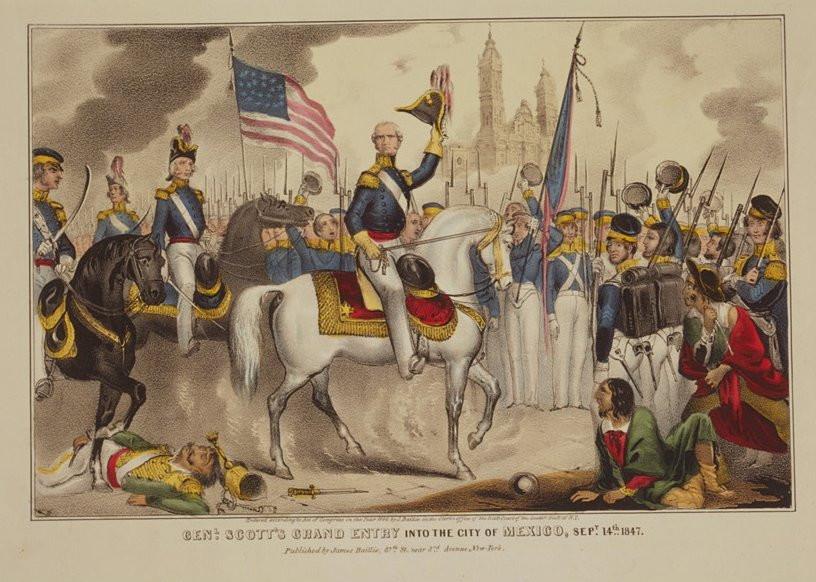 Gen. Scott's grand entry into the City of Mexico, Sept. 14, 1847