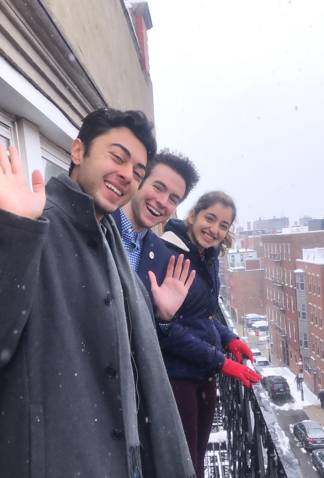 MUNSC Members caught in a snowfall while at hnmun 2019