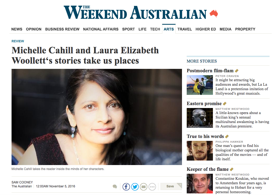 book review in the  Australian – Michelle Cahill's  Letter to Pessoa and Laura Elizabeth Woollett's  The Love of a Bad Man