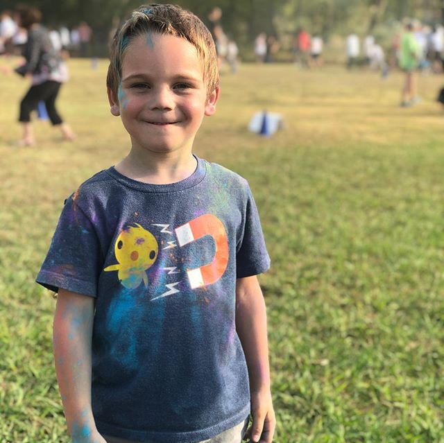 Gotta love a little color run fun at #burkselementary . We love our school! #willitsfamilyfun