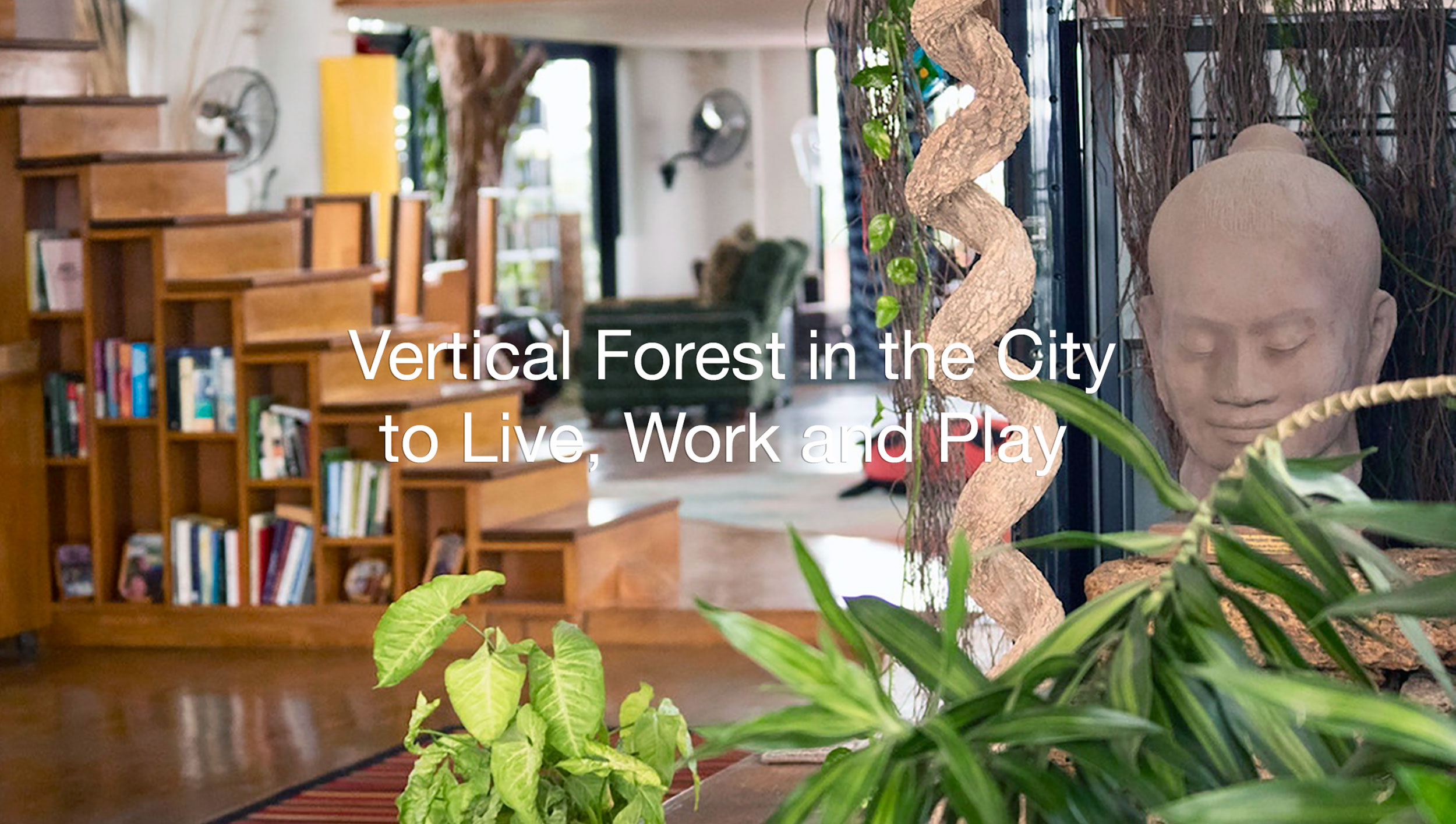 Penthouse and offices in a vertical forest in Phnom Penh