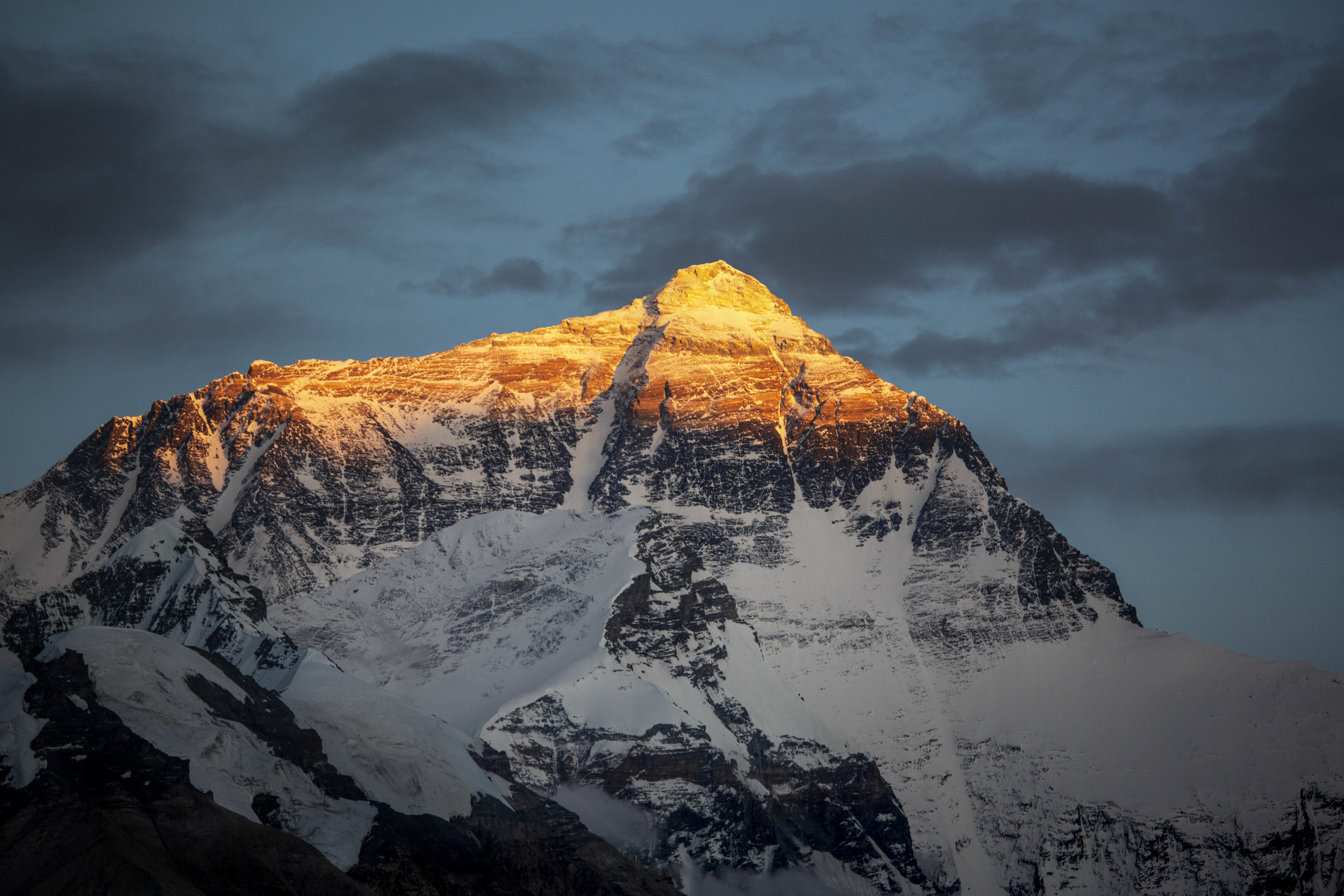 Chomolungma, the mother goddess. This is Mt. Everest.