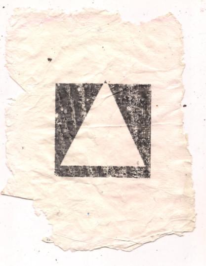 009_Stille Wasser_print on handmade paper A5