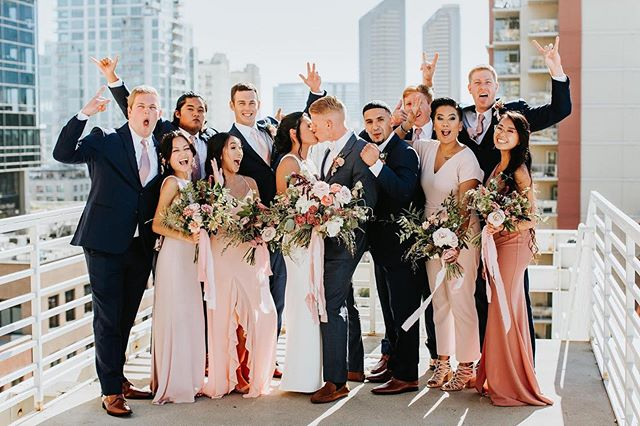 Can't say I Do, without your Crew!! So honored to have been apart of this couples special day. Congratulations Meghan & Hunter!✨ Photography: @toddjames . . . . . . . #weddingcoordinator #sdweddingcoordinator #sandiegowedding #luceloft #rooftopviews