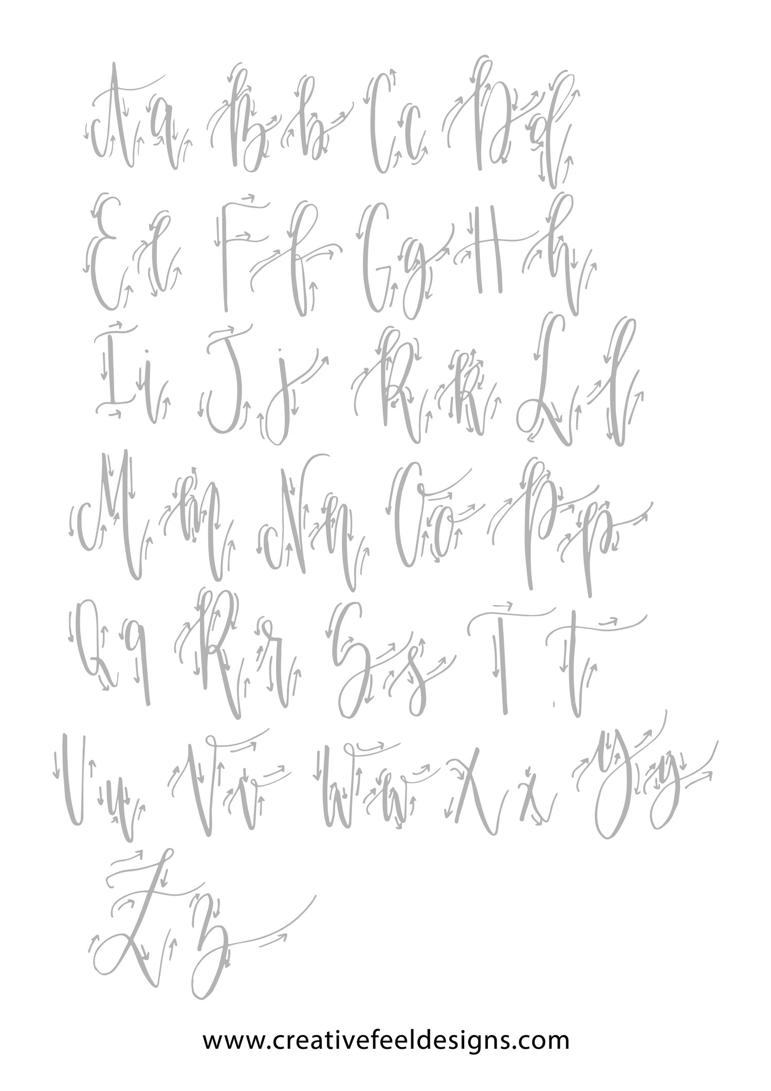 Brush Lettering Practice Sheets   Focusing on letters 's' and 'h ...