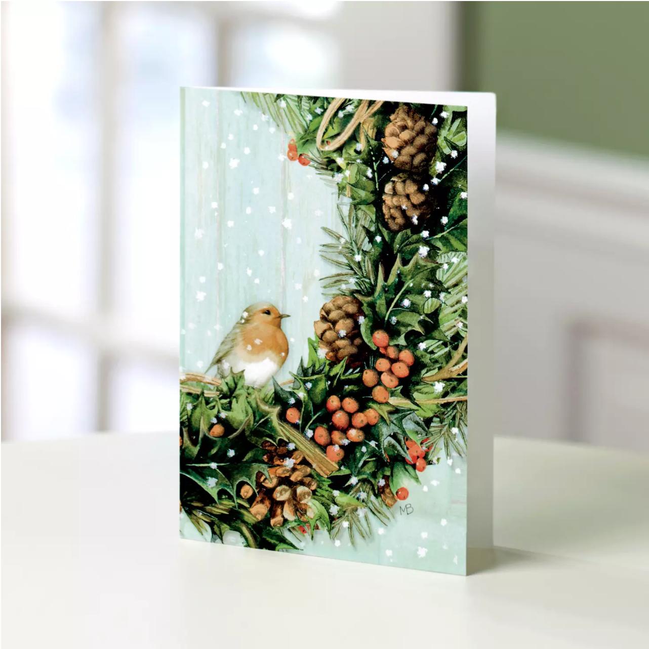 UNICEF Bird & Wreath Card