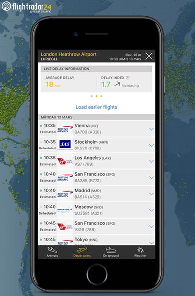 Acesse o painel de partidas e chegadas dos aeroportos atualizado em tempo real. Luxuoso aplicativo mesmo!