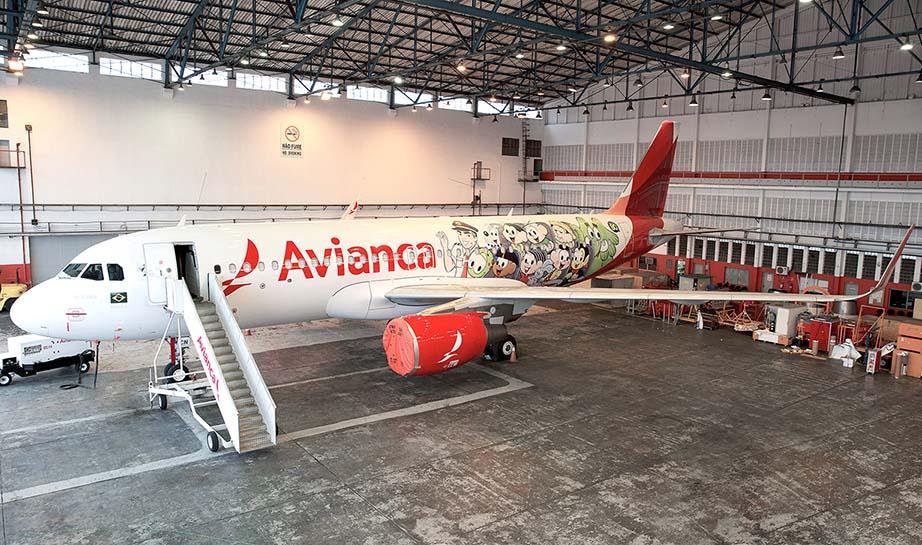 Avião da Avianca com tema Turma da Mônica: do bairro do Limoeiro para os céus