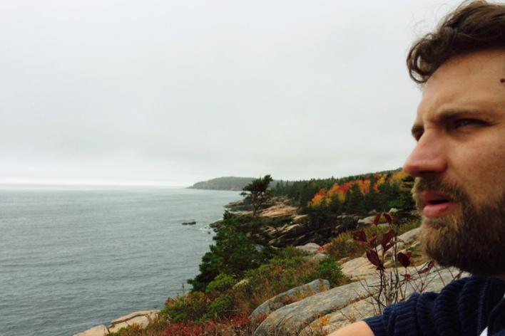 Bonito o Oceano Atlântico visto do Acadia National Park, mas nota-se que estou ainda impactado com o azedume das cranberries