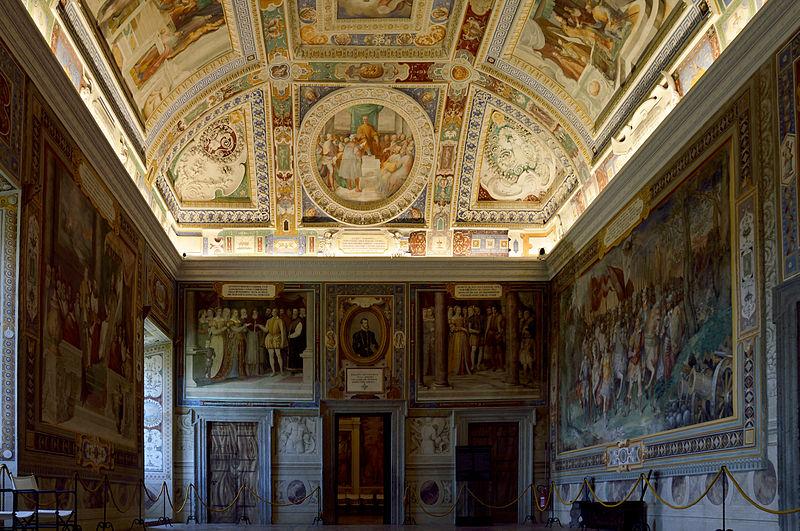 Afrescos no chamado Quarto do Cardeal, no Palazzo Farnese