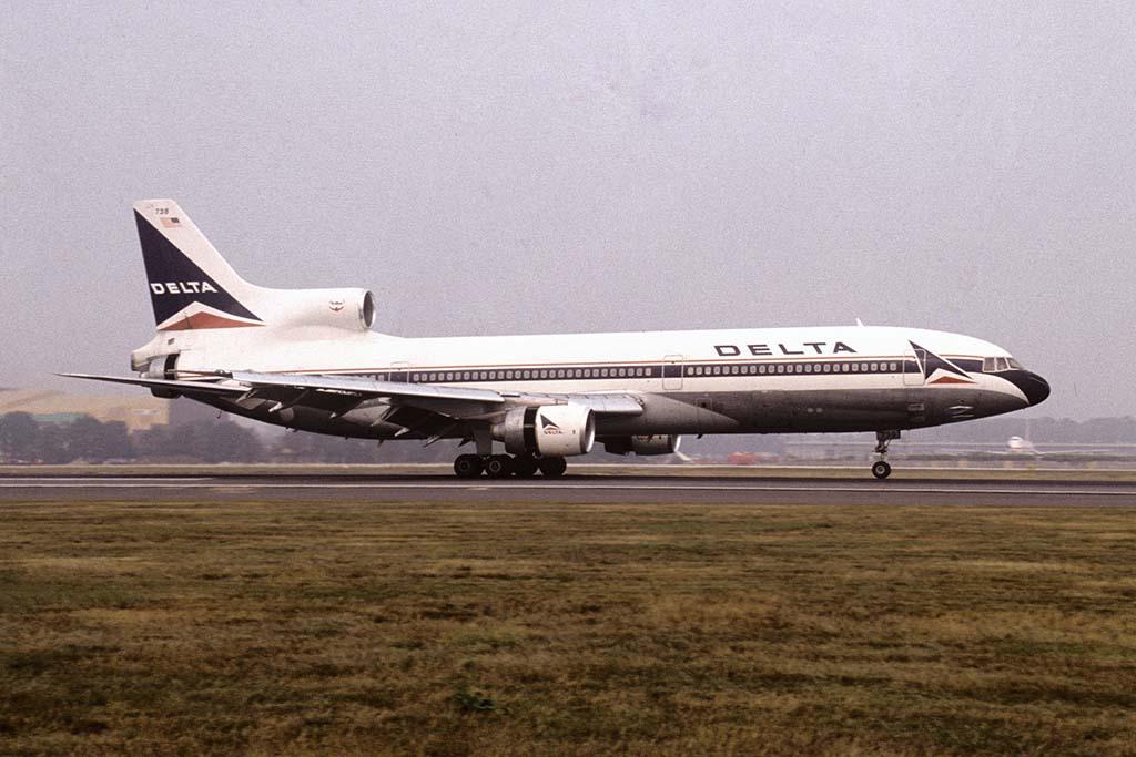 Avião Lockheed 1011 Tristar da Delta. Um modelo igual a este sofreu acidente por conta de um microburst