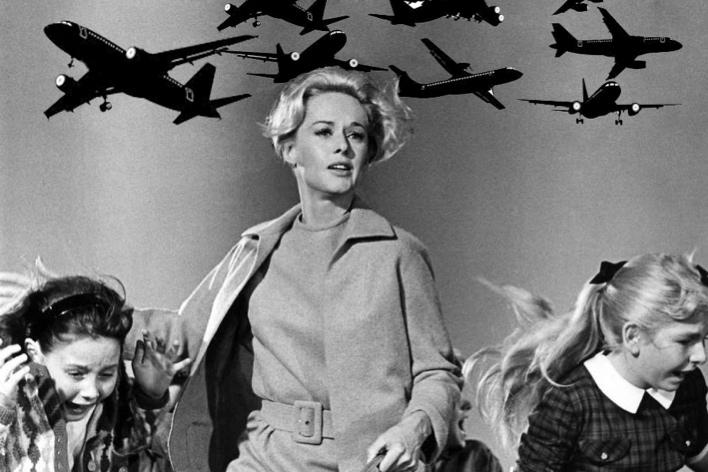 Pássaros metálicos? Será que Hitchcock era um panicado? Pesquisar