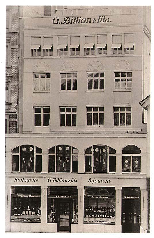 Loja (térreo) e oficina (demais andares) de relógios de meu avô Otto Billian, na Seefeldstrasse, em Zurique