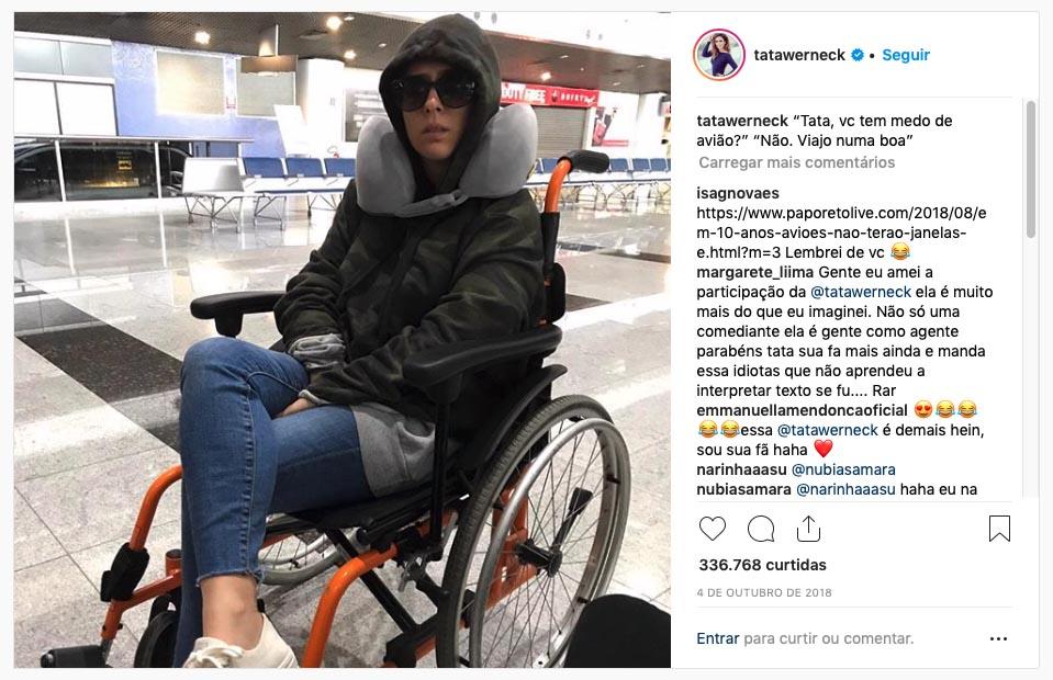 Post causou polêmica entre os internautas no Instagram