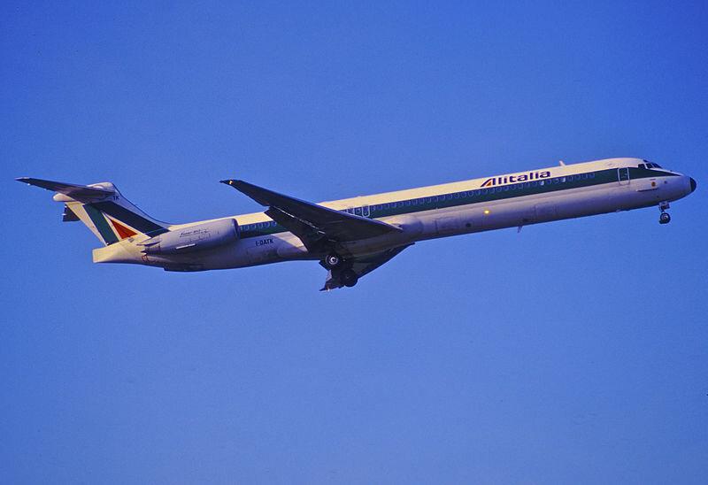 O último MD-80 nas cores da Alitalia voou em 2012, entre Roma e Trieste: fim de uma era de 28 anos na companhia europeia