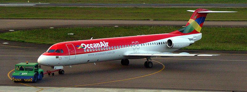 A brasileira OceanAir também voou com Fokker 100, só que disfarçados com o nome de fábrica do modelo holandês: MK-28