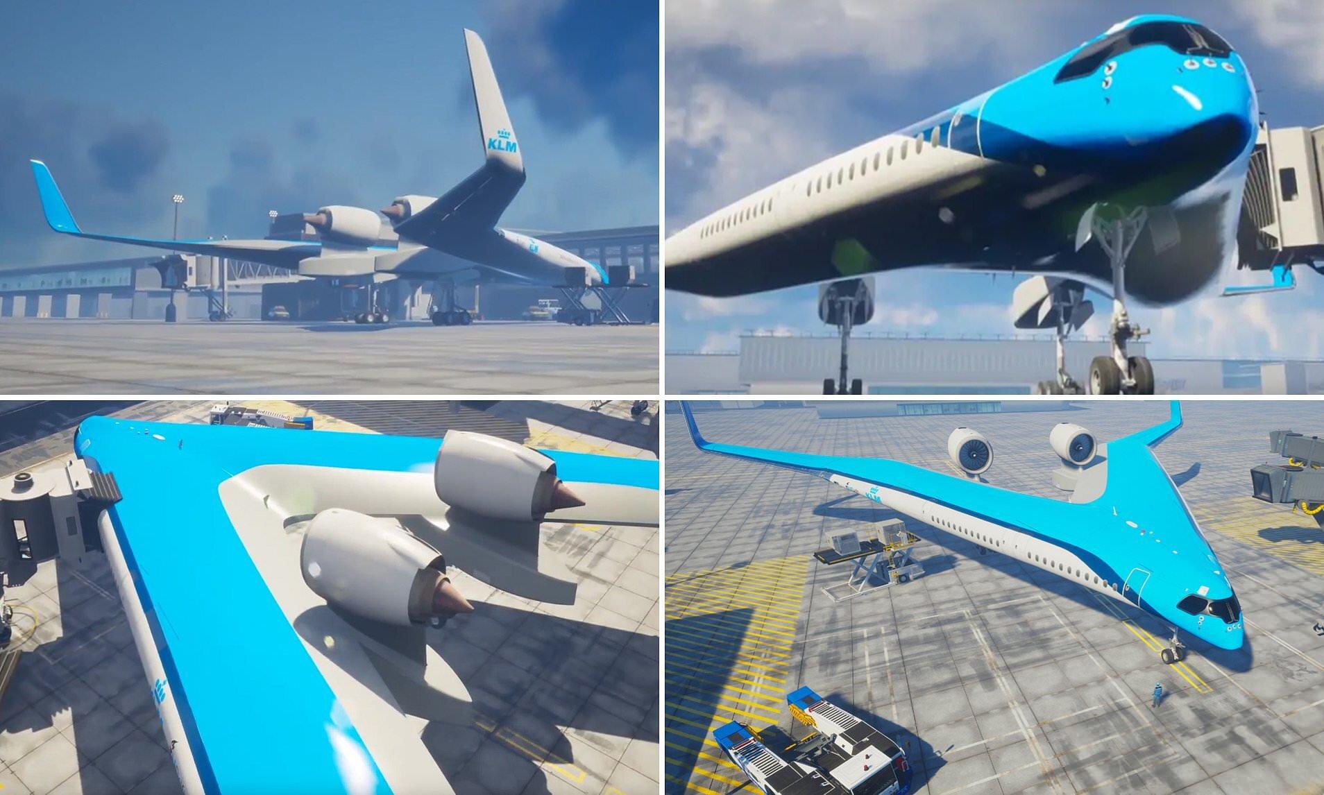 Tudo junto: a proposta do Flying-V prevê que o transporte de passageiros, carga e combustível seja todo concentrado nas duas grandes asas: projeto é só para 2040