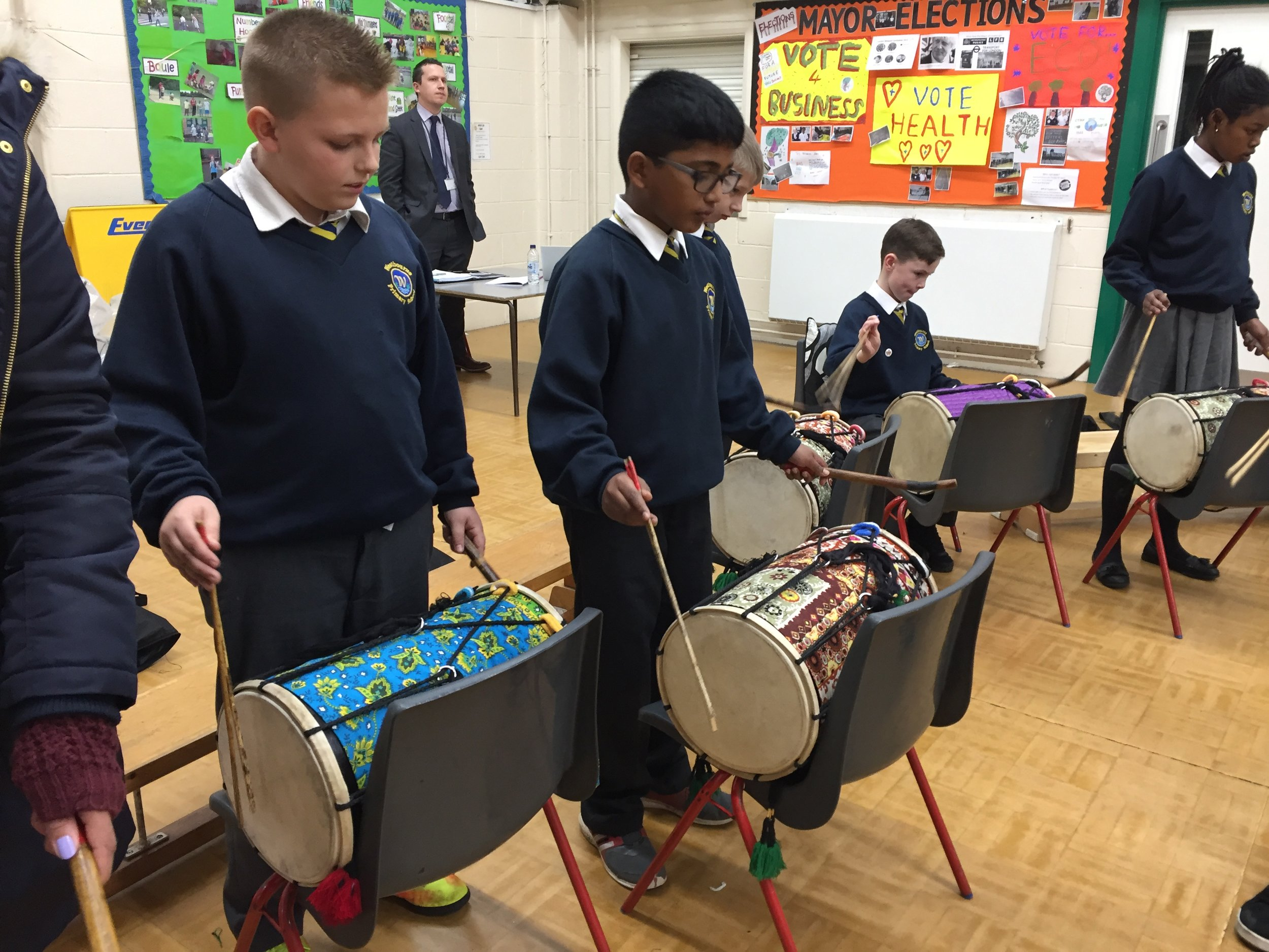 Indian dhol drumming First Access Programme