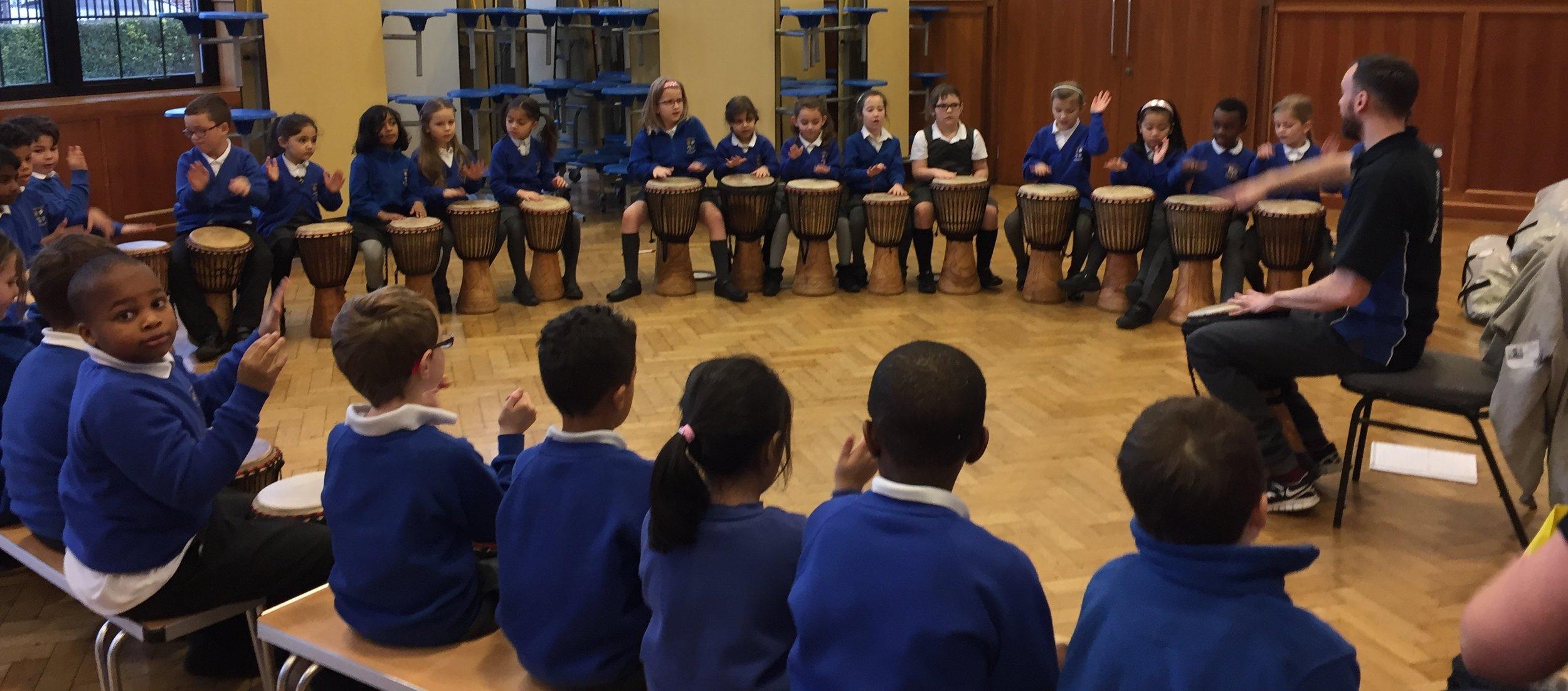 Key Stage 2 West African Drumming Workshop