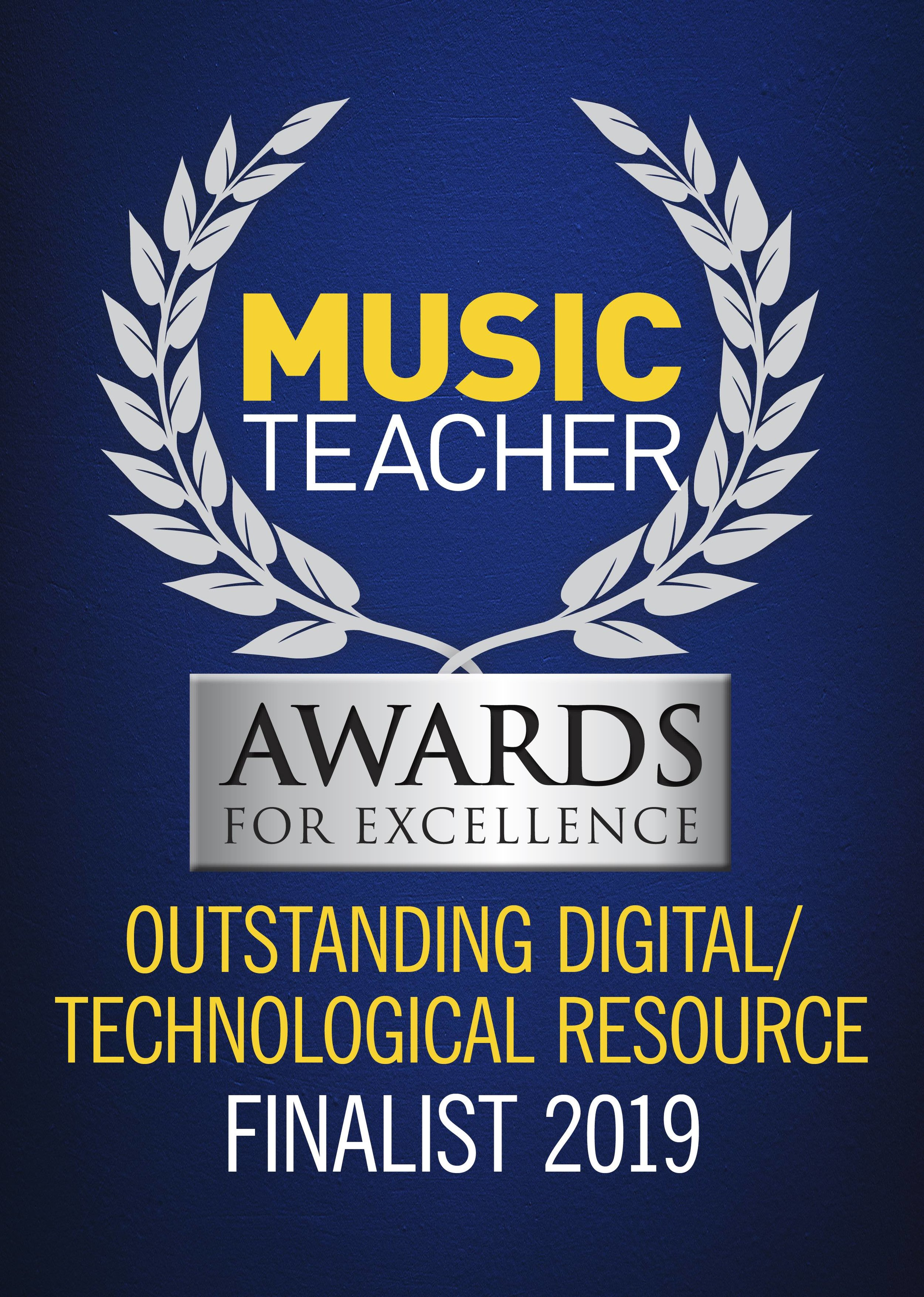 Our World-Music Online Courses & Workshops have been selected as Finalists in the 2019 Music Teacher Awards! - We will find out in March 2019 if we have won the award!