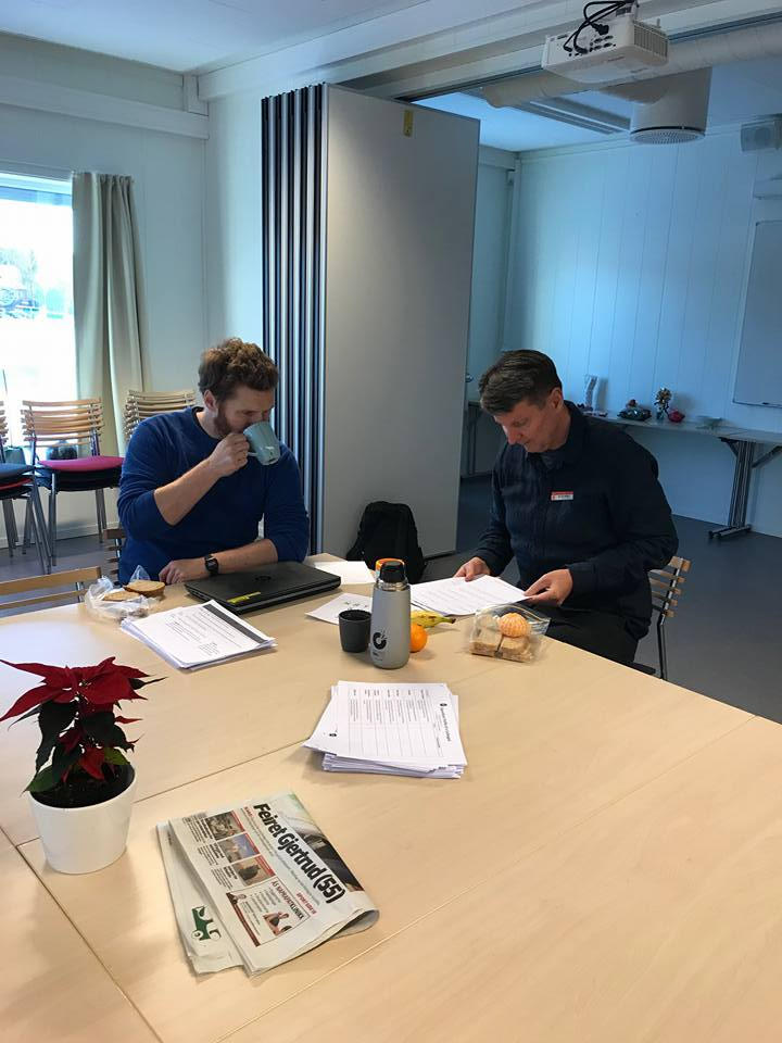 Photo: Here I am enjoying a coffee while planning for lessons with Hans during his RFF time.
