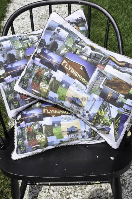 Special Martha's Vineyard pillow collage -