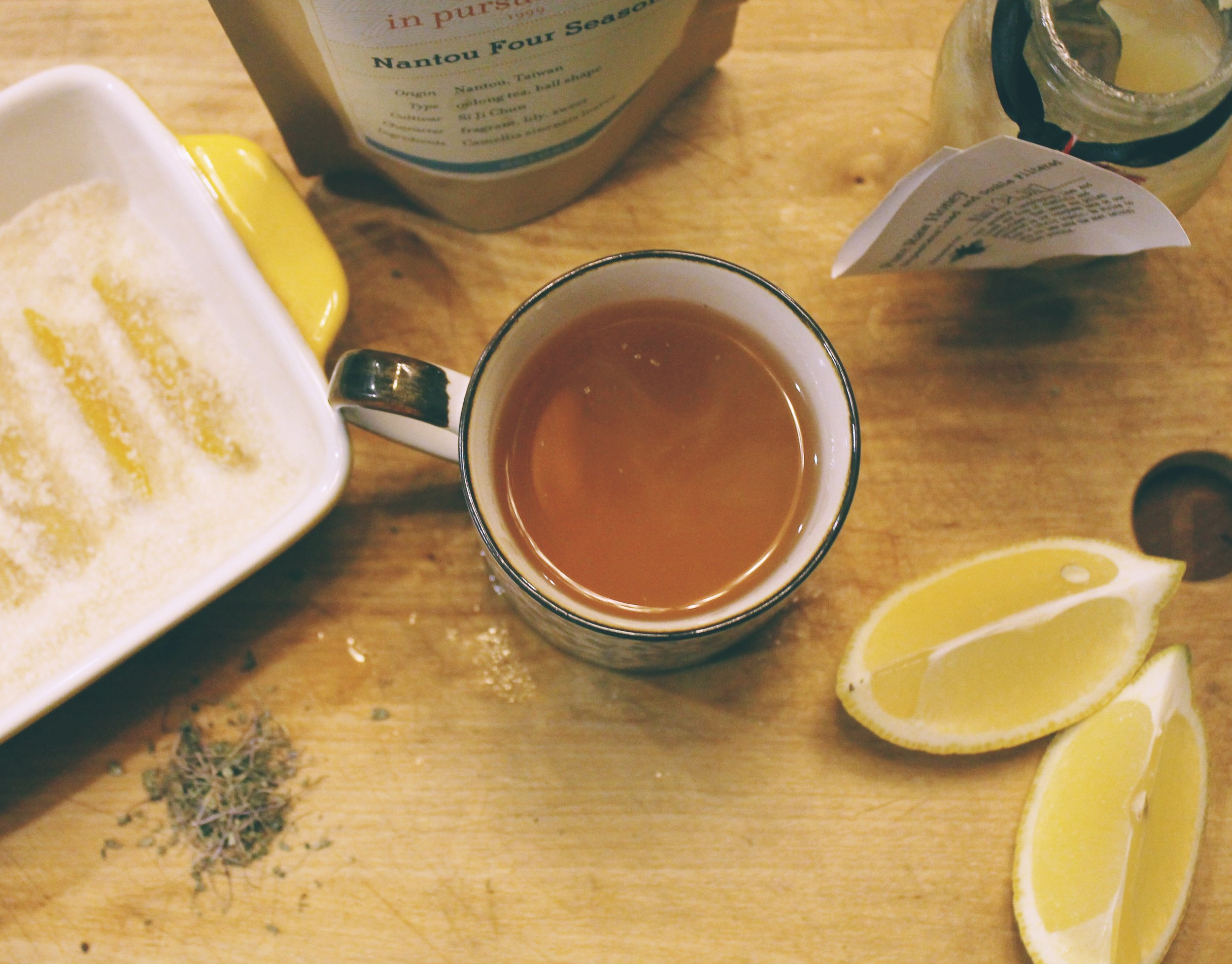 - Oolong Ginger Lemon Basil Tea