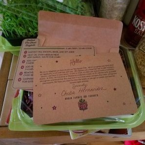 La Garniture Microgreen CSA welcome package and recipe of the week