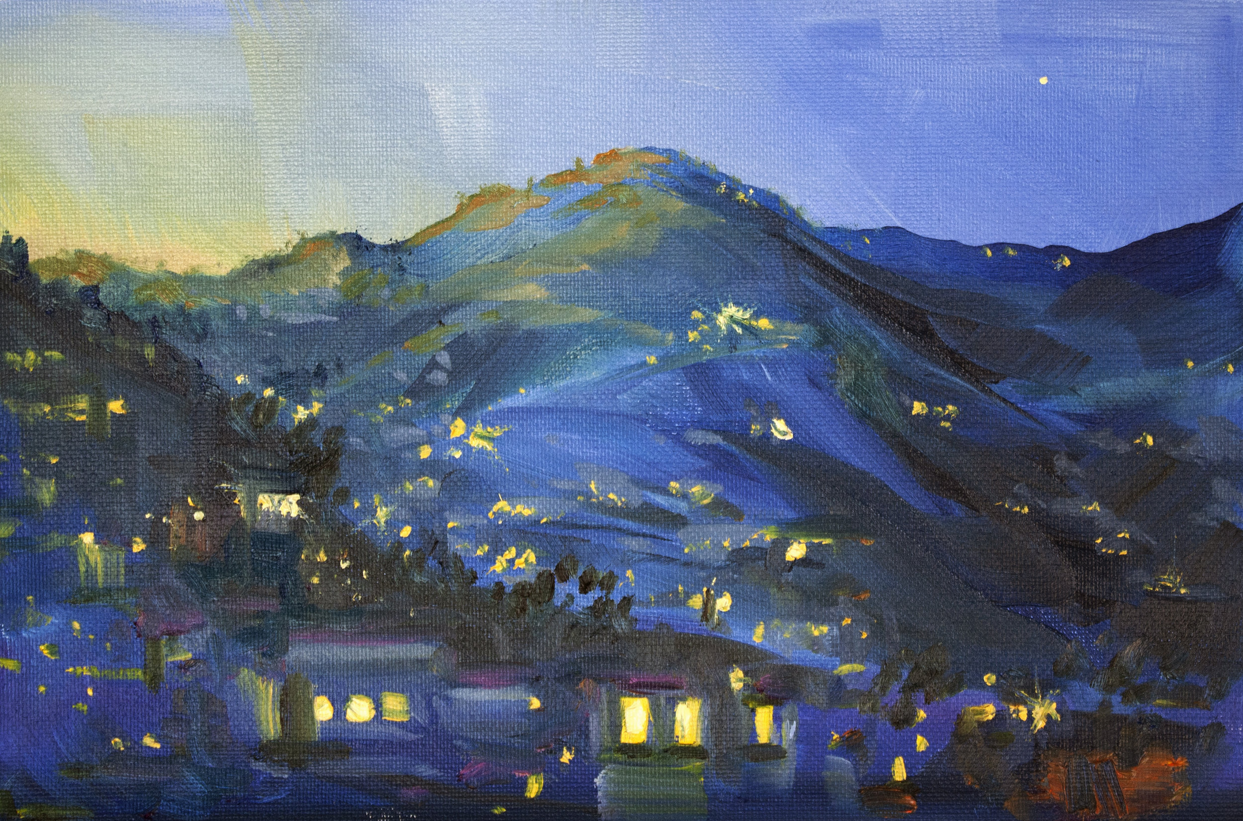 Day 9 - Plein Airpril -dusk lights.jpg