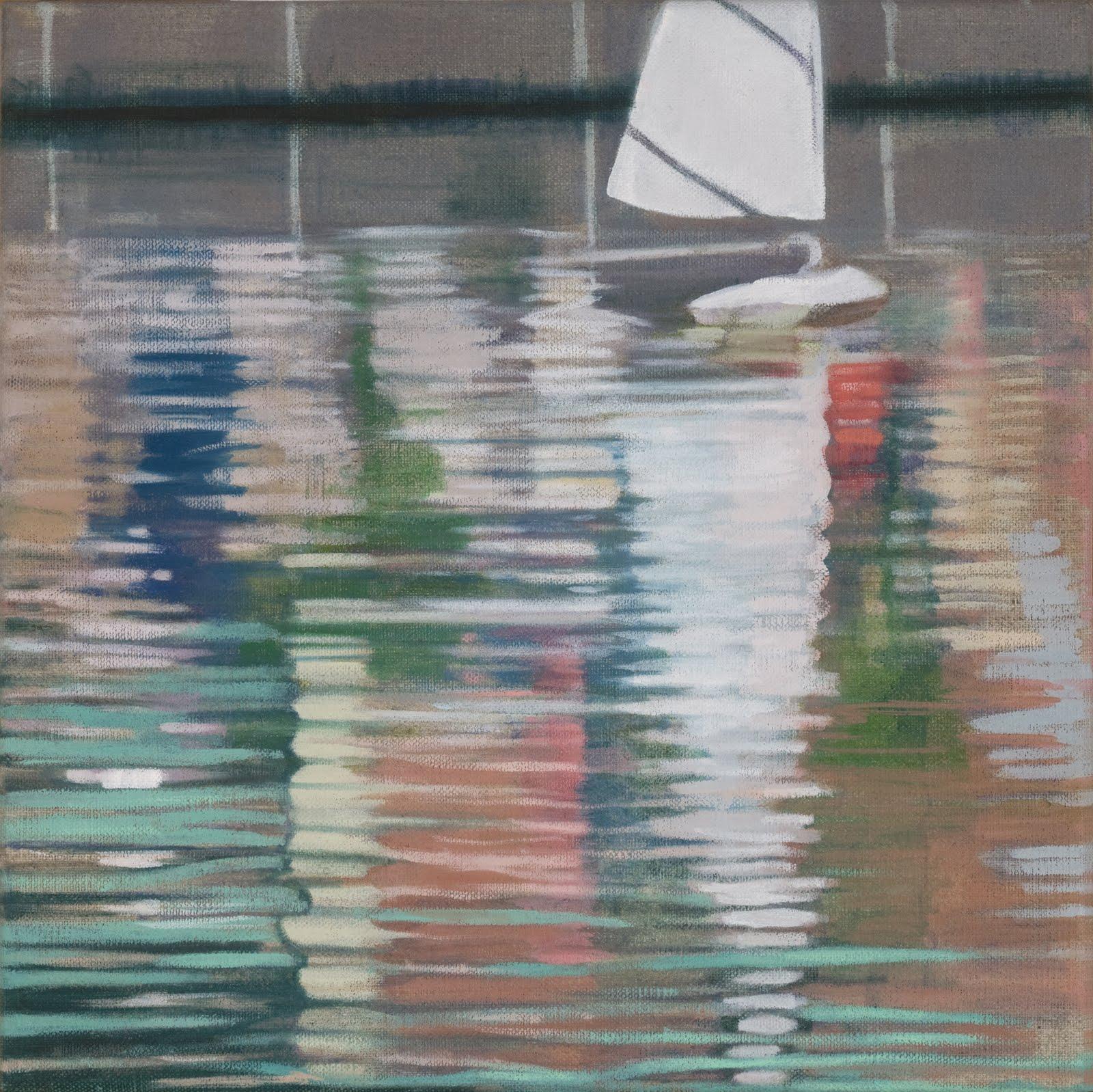 """""""Model Boat (Central Park)"""", oil on linen, 12""""x 12"""""""
