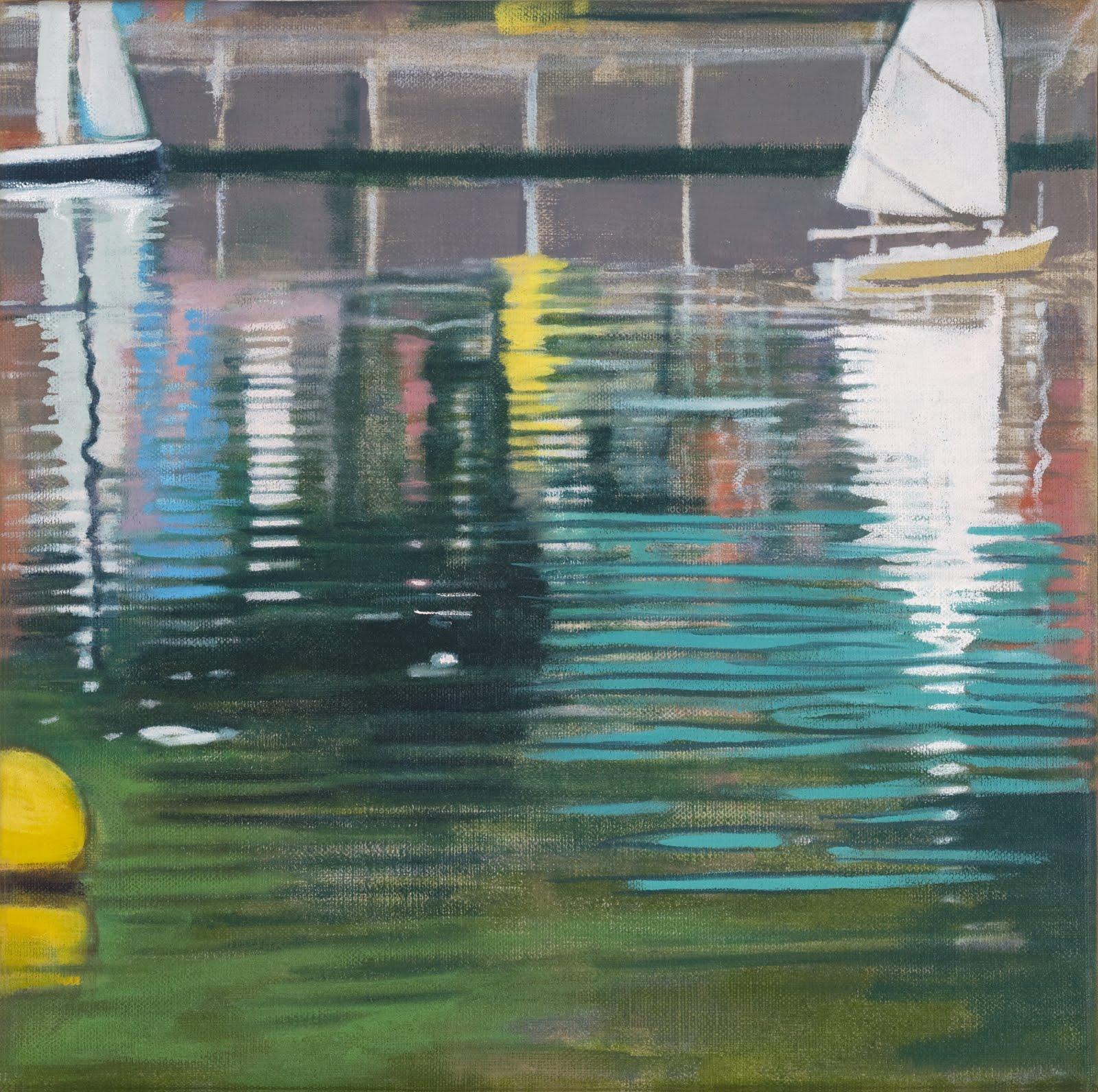 """Model Boats (Central Park)"", oil on linen, 12""x 12"""