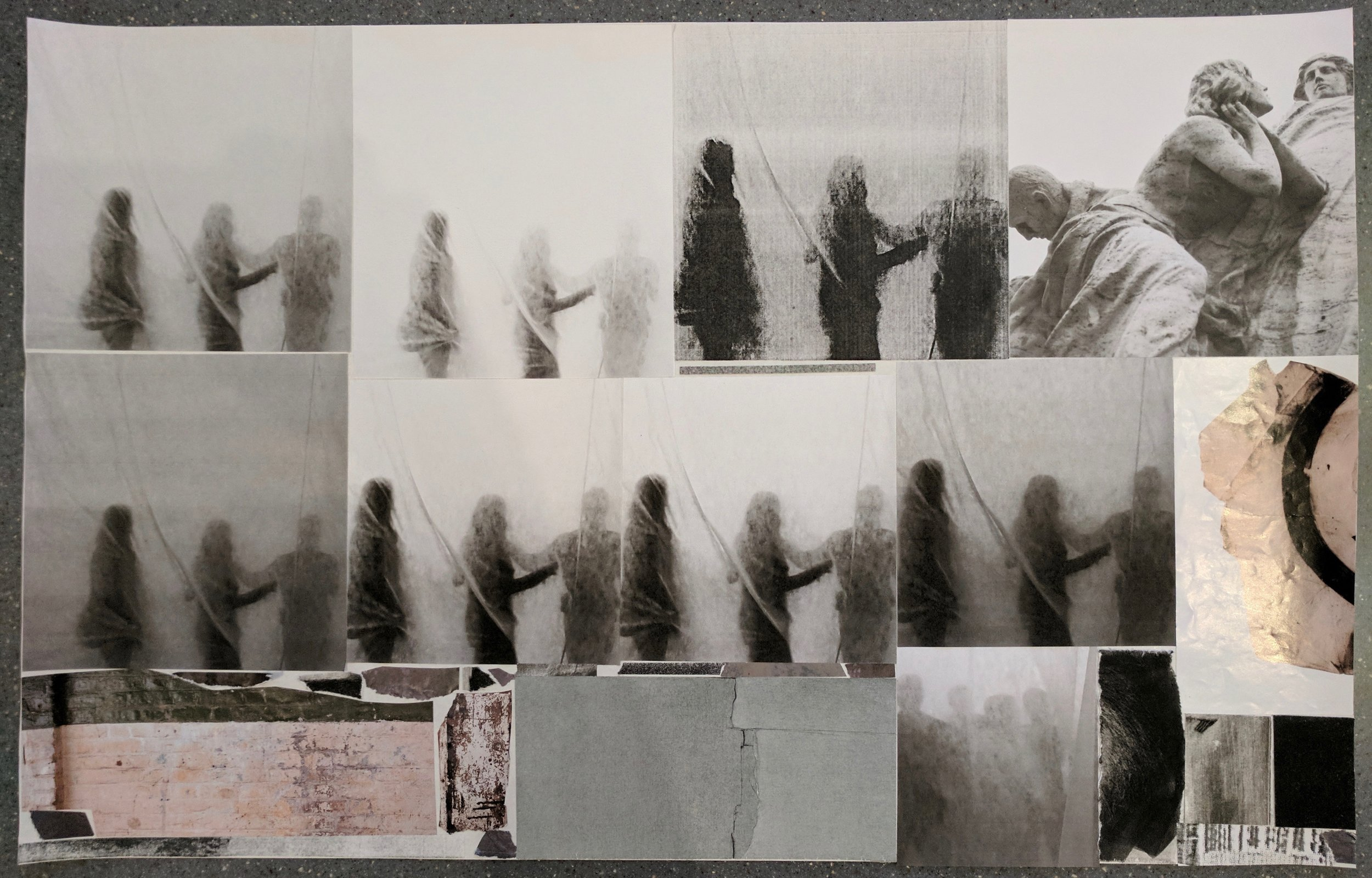 """""""Waiting (Sum of Days) I"""", photo of temporary collage, variable dimensions"""