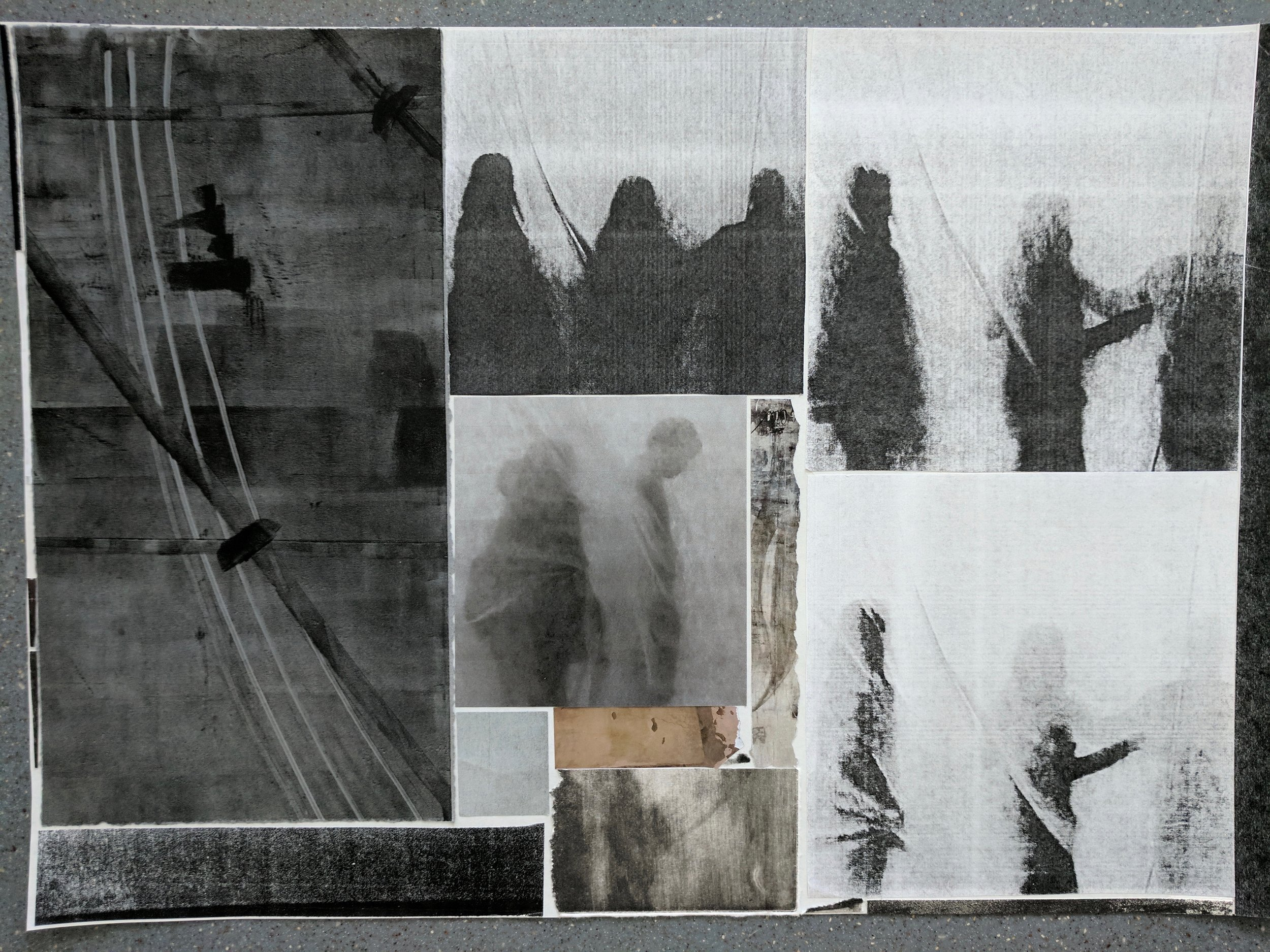 """""""Waiting (Sum of Days)II"""", photo of temporary collage, variable dimensions"""