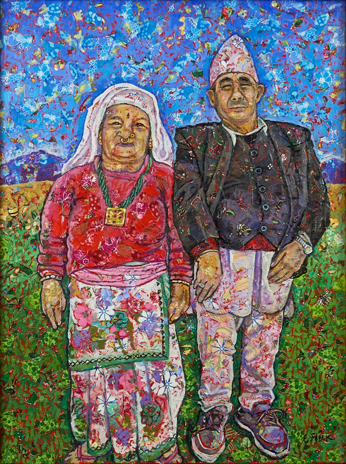 fleck-bhutanese-couple-oils-fabric-open-studios.jpg