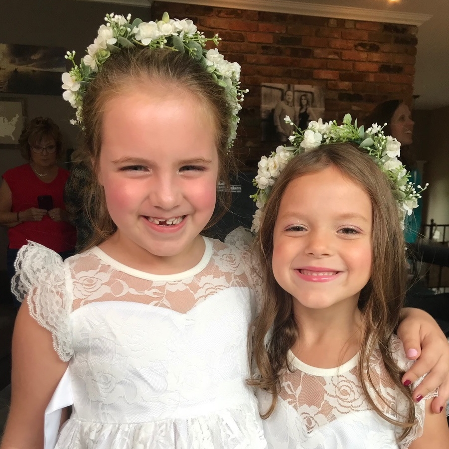 Flower Girl Makeup   For Flower Girls under  A touch of blush, lipstick, and sparkle for flower girls 10 and under.