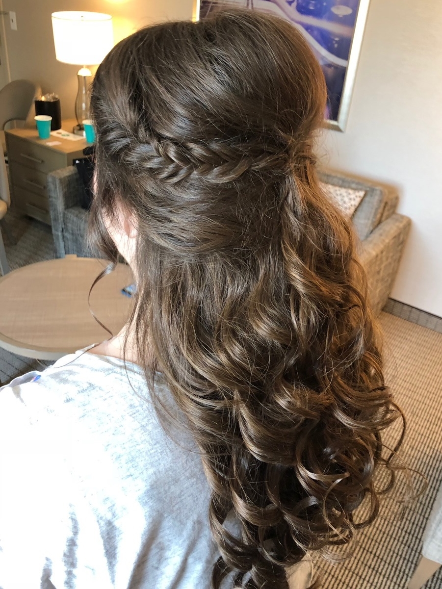 Clip-in Hair Extensions    For Brides, Bridesmaids, and Others.   We are happy to clip in your hair extensions to make sure you get the length and thickness desired for your hairstyle. Make sure to bring your own extensions, and we can add them to any hairstyle.
