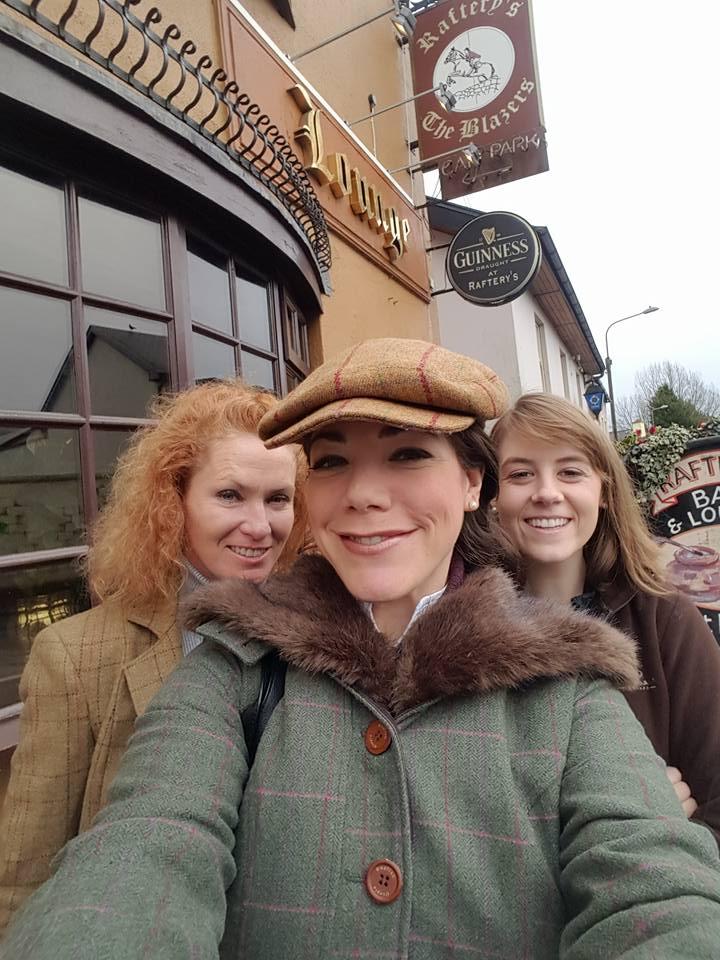 Maureen, Devon, and Bernadette at Raferty's post-massages