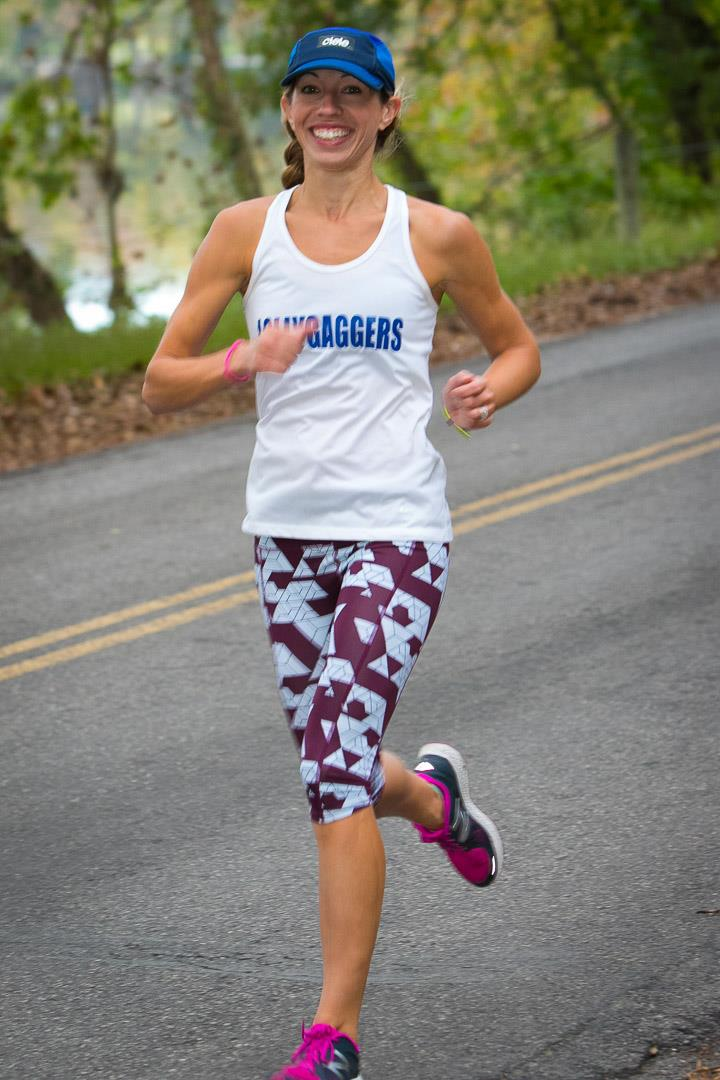 Julia Hargesheimer is all smiles during the SARR Member's Appreciation Run 2016 Photo by Robert Parker