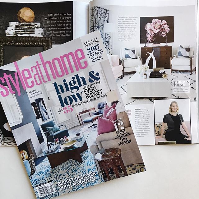 Always so exciting to see our pillows in print! Our Leopard Velvet and Kubus Argent pillows are in the January issue of @StyleatHome Magazine as part of the story starting on page 62 featuring designer Sarah Walker's chic home (@thecuratedhouse). See more on Insta Stories #AriannaBellepillows