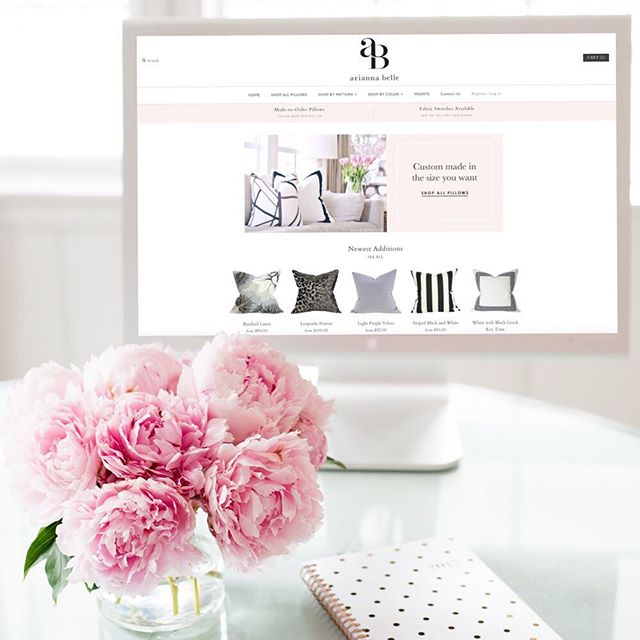 Have you seen our new website? It got a little makeover! 🎉✨Link in profile http://ariannabelle.com #AriannaBellepillows