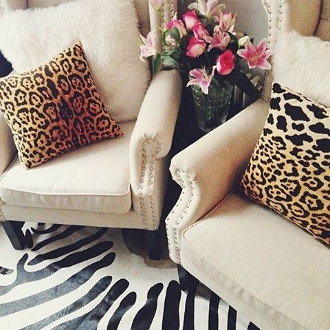 Classic leopard #AriannaBellepillows //home of @thedecorista // pillows shown are size 17x17