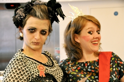 Original Art Macabre hosts and co-founders Nikki Shaill and Lux Chell in characters