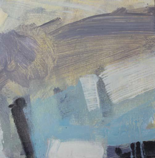 SOLITARY DIP - oil on canvas - 20 x 20cm