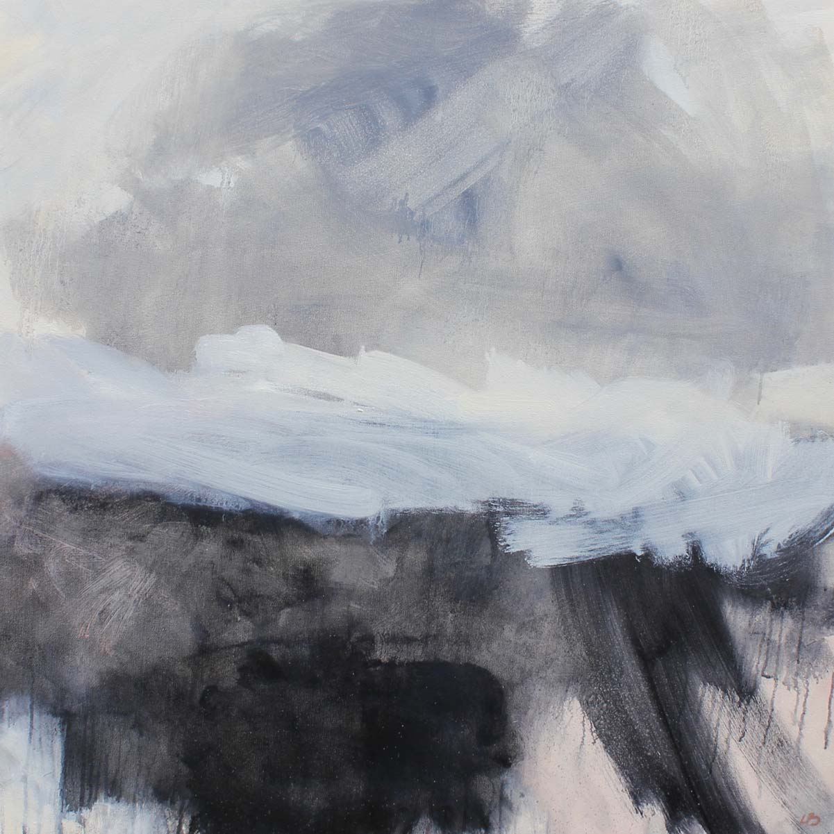 WHEN THE DUST SETTLES I - oil on canvas - 80 x 80cm
