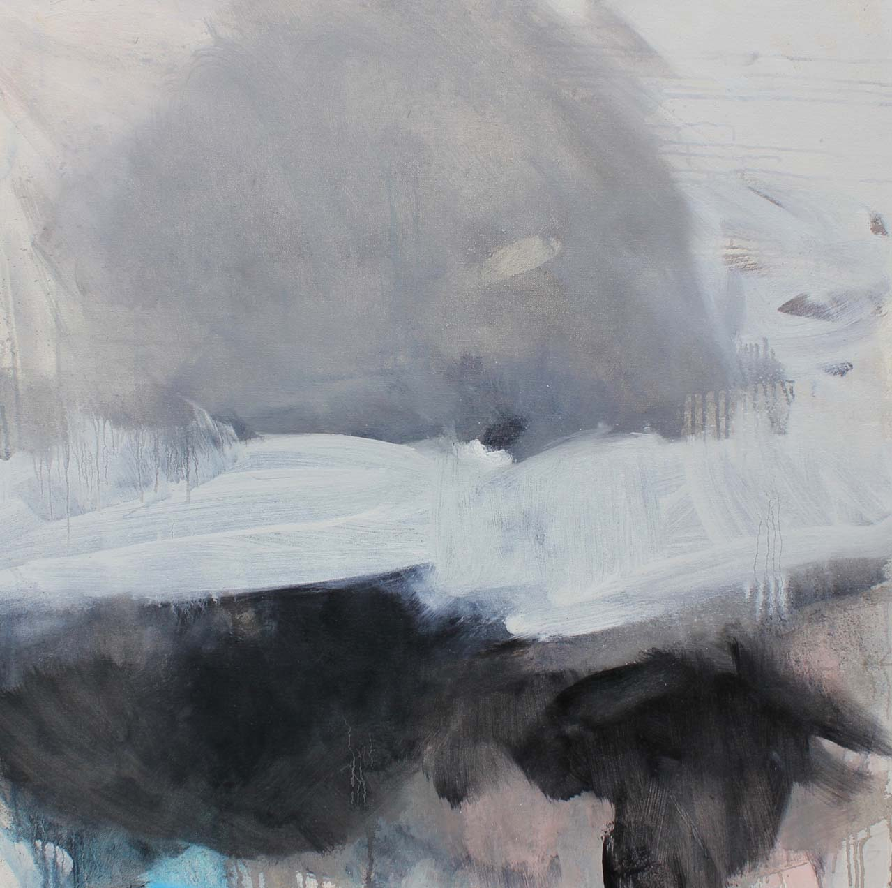 WHEN THE DUST SETTLES II - oil on canvas - 80 x 80cm